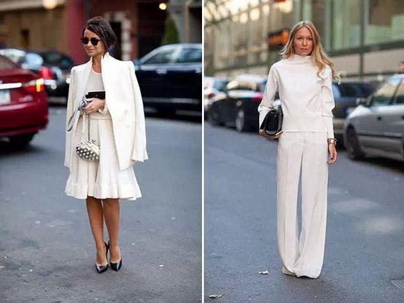 夏天学穿素白色 怎么搭都很时髦